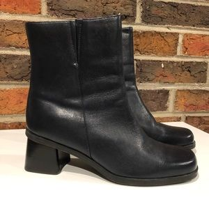 Naturalizer Dark Blue Leather Boots